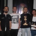 10--I-registi-Luca-Alessandro,-Antonio-Zannone-e-Alex-Visani-insieme-al-critico-web-Francesco-Lomuscio