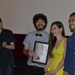 13-Daniele Esposito, con gli interpreti Annabella Calabrese e Federico Giunti presenta La ruota.jpg