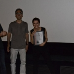 17-La protagonista Désirée Giorgetti riceve la targa del Fantafestival per The Blind King