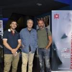 30-Il produttore Loris Curci, con Alberto Ravaglioli e Jonatan Alonso Villaroel per Downhill