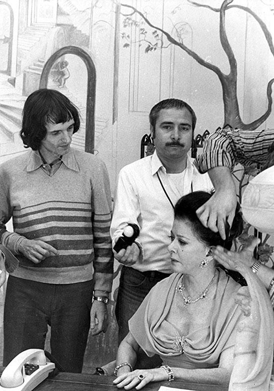 Dario Argento e Luciano Tovoli sul set di Suspiria